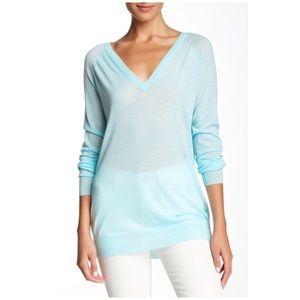 {Equipment Femme} Asher V-Neck Sweater Spearmint